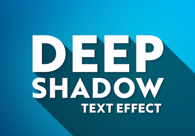 Efecto de texto de sombra larga