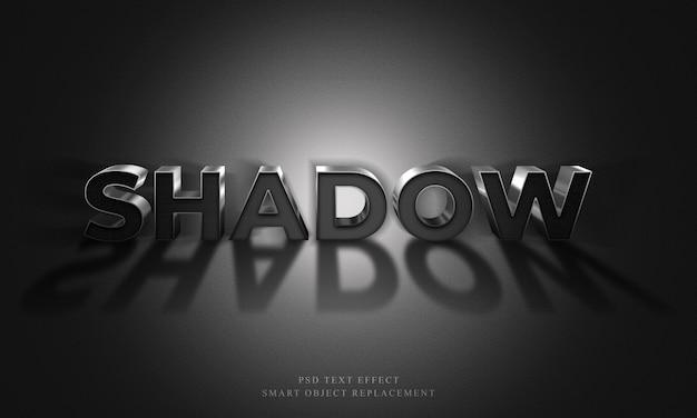 Efecto de texto de sombra