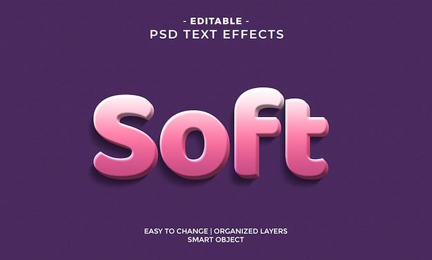 Efecto de texto suave 3d moderno y colorido