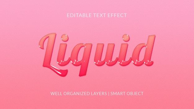 Efecto de texto suave y líquido