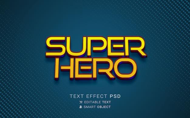 Efecto de texto de superhéroe creativo