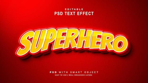 Efecto de texto de superhéroe