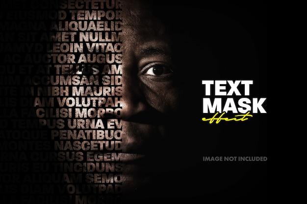 Efecto de texto de superposición de imagen recortada