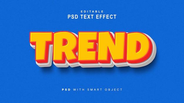 Efecto de texto de tendencia