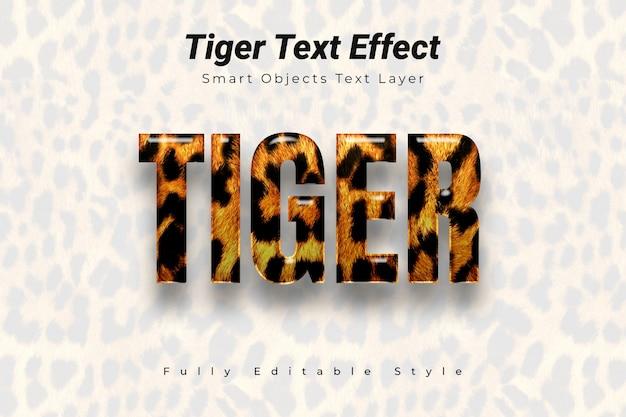 Efecto de texto de tigre