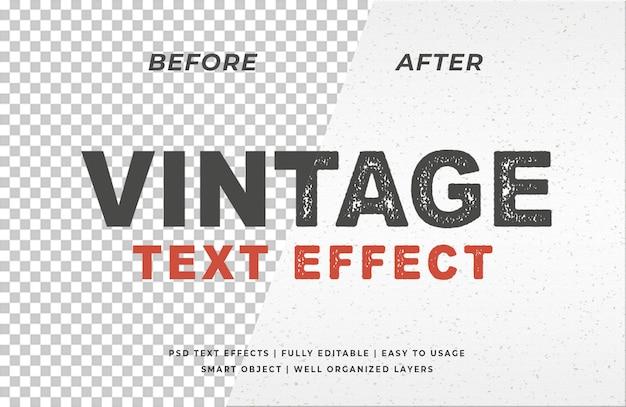 Efecto de texto de tipografía de sello vintage