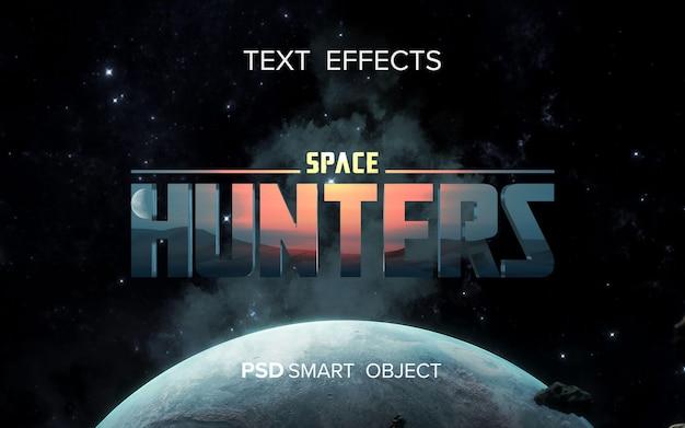 Efecto de texto del título de la película