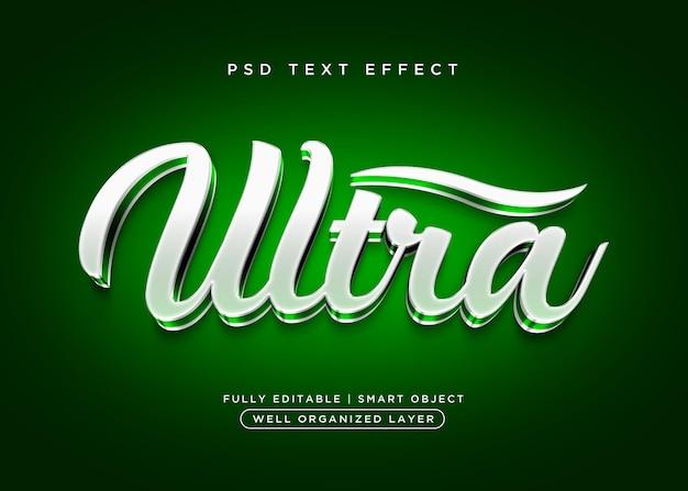 Efecto de texto ultra de estilo 3d