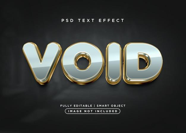 Efecto de texto vacío de estilo 3d