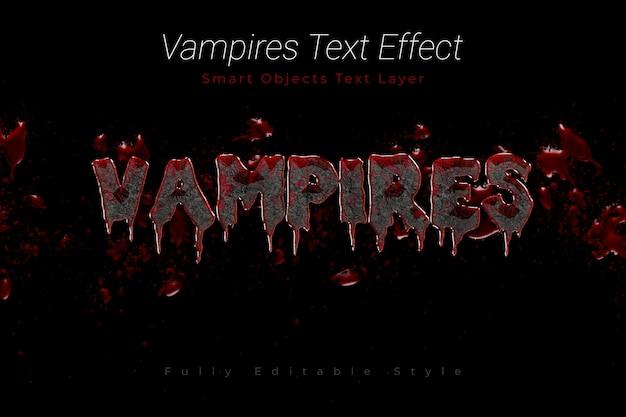 Efecto de texto de vampiros