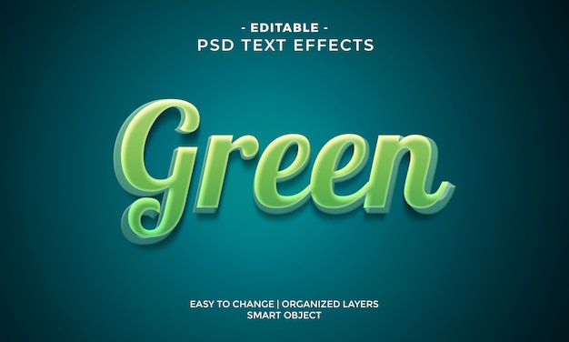 Efecto de texto verde colorido moderno