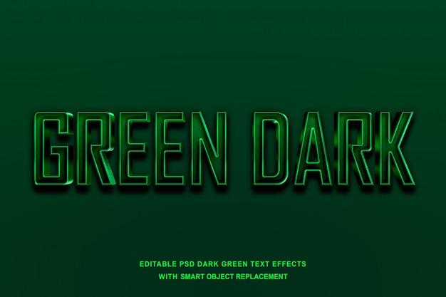 Efecto de texto verde oscuro