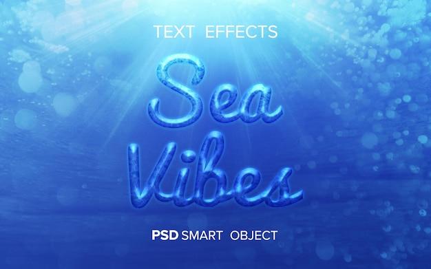 Efecto de texto de vibraciones marinas