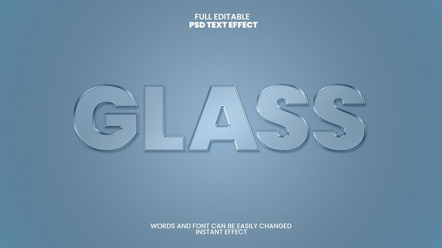 Efecto de texto de vidrio