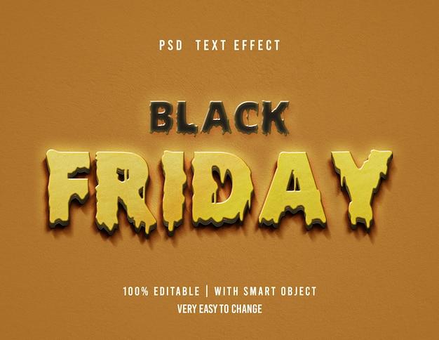 Efecto de texto de viernes negro editable