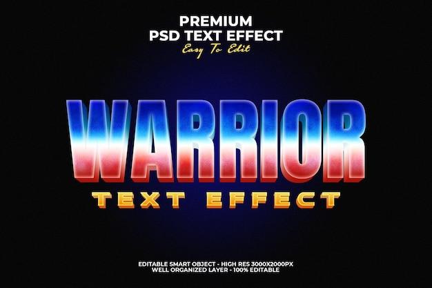 Efecto de texto warrior moovie