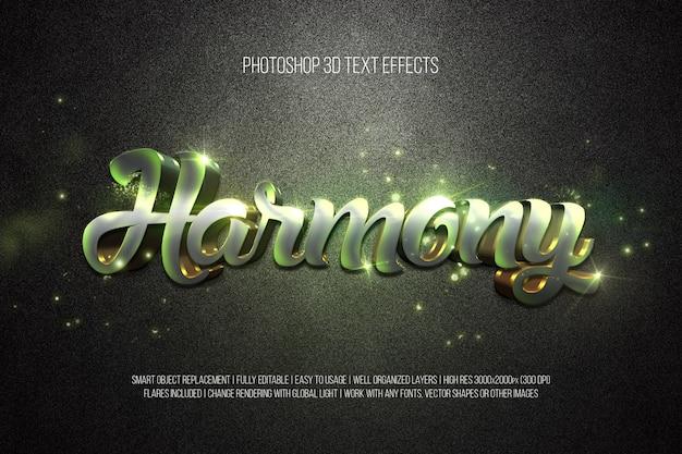 Efectos de texto en 3d photoshop armonía