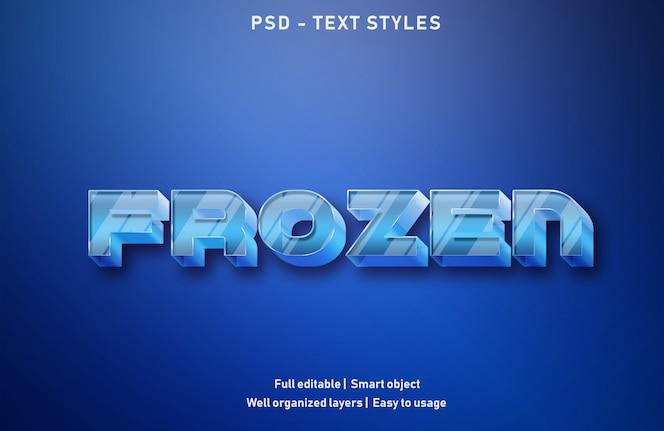 Efectos de texto congelados estilo editable psd