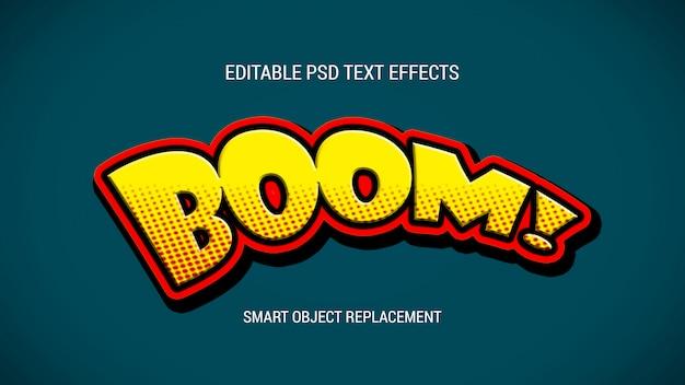 Efectos de texto editables de estilo de dibujos animados