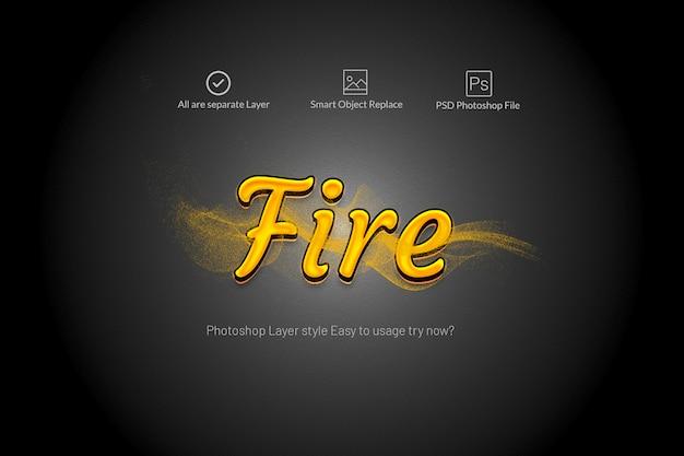 Efectos de texto de fuego con humo de movimiento