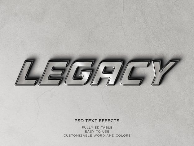 Efectos de texto de metal 3d con textos editables