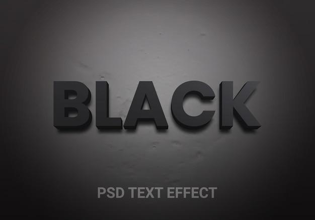 Effen zwarte bewerkbare teksteffecten