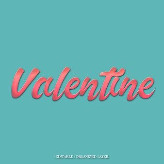 Effetti di testo carino san valentino rosa