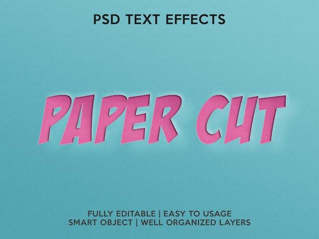 Effetti di testo cartaceo