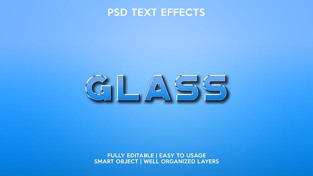 Effetti di testo in vetro