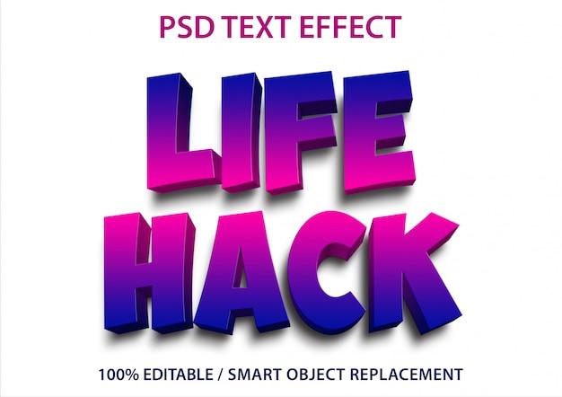 Effetti di testo modificabili life hack