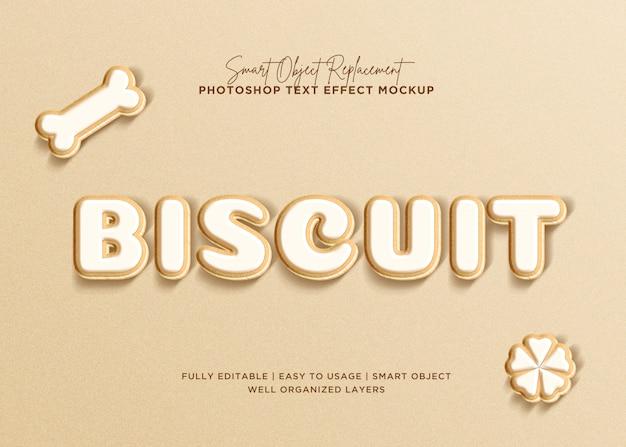 Effetto del testo del biscotto di stile 3d