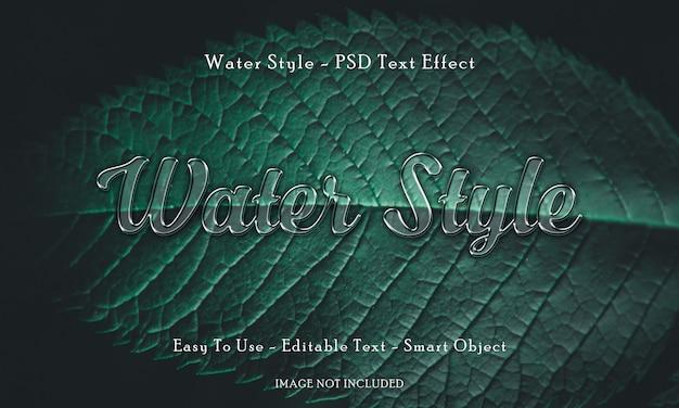 Effetto del testo di stile dell'acqua 3d