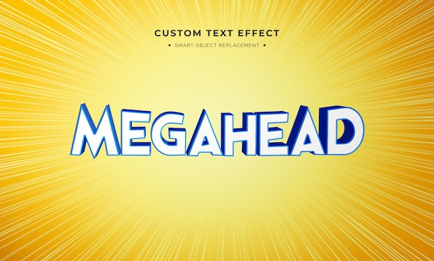 Effetto di stile del testo 3d di film di animazione