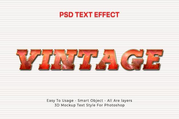 Effetto di stile del testo 3d
