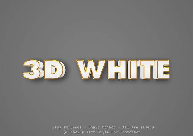 Effetto di stile del testo bianco 3d