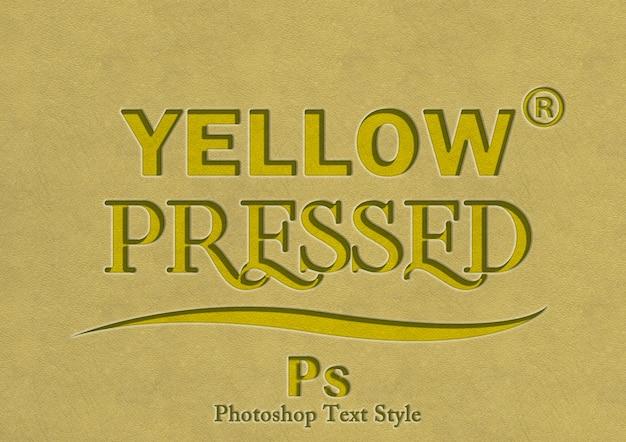 Effetto di stile di testo giallo 3d