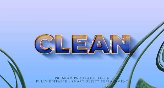 Effetto di stile testo pulito, effetti di testo premium