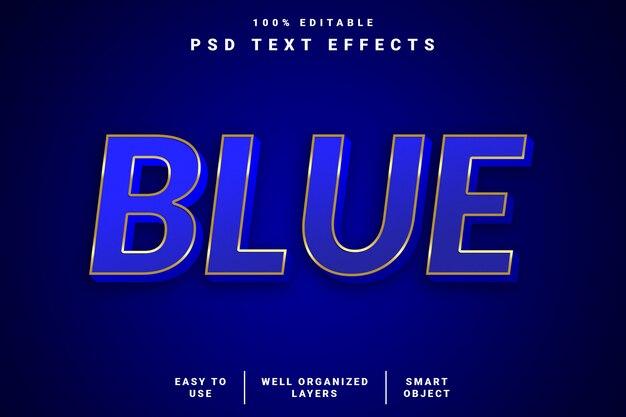 Effetto di testo blu moderno 3d