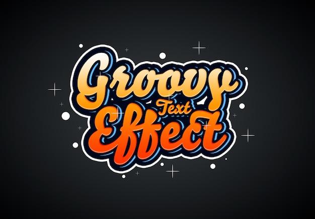 Effetto di testo groovy