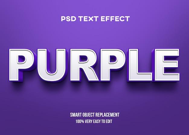 Effetto di testo in grassetto viola