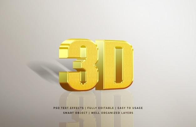 Effetto di testo in oro 3d