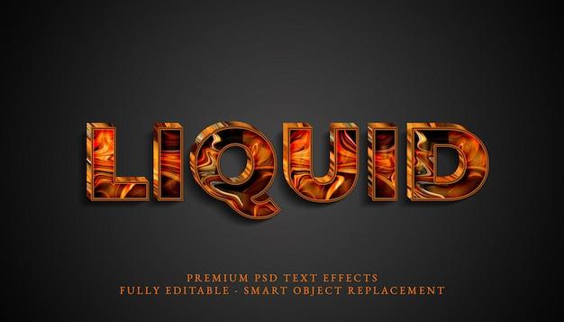 Effetto di testo in stile liquido psd, effetti di testo psd premium