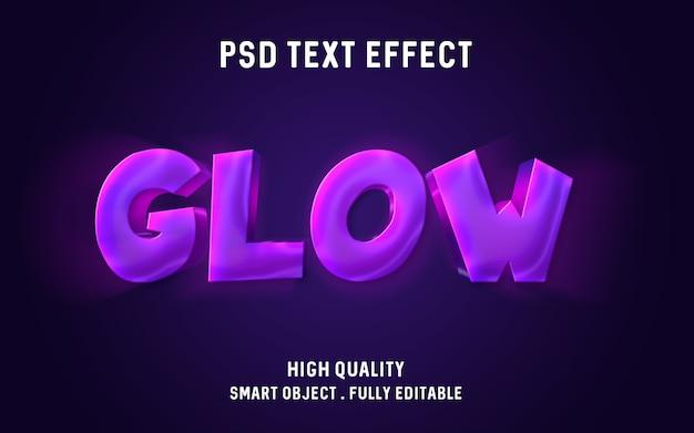 Effetto di testo lucido viola rosa 3d