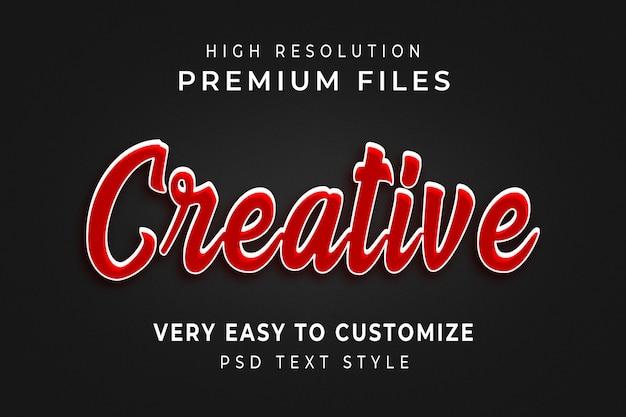 Effetto di testo rosso 3d morbido creativo minimo