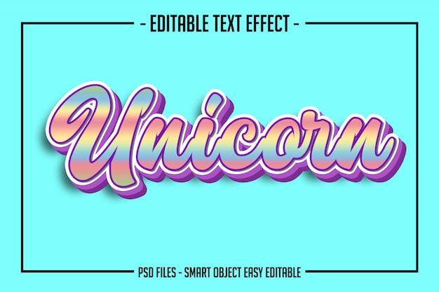 Effetto font modificabile in stile testo rainbowscript