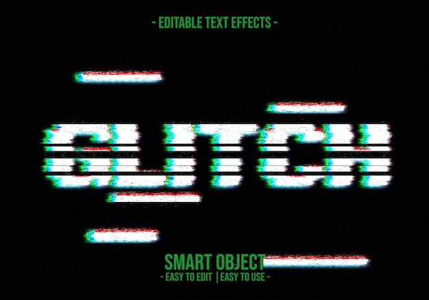 Effetto glitch text style