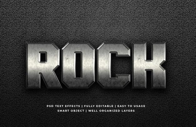Effetto metal rock stile testo 3d