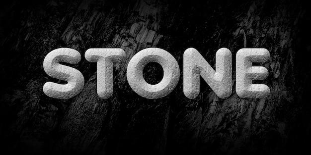 Effetto stile testo di pietra
