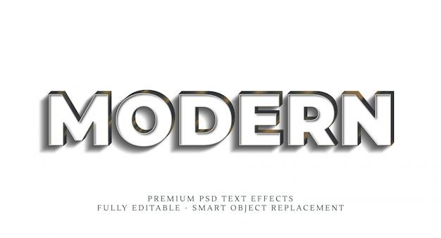 Effetto stile testo moderno, effetti di testo premium