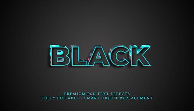 Effetto stile testo nero, effetti di testo premium